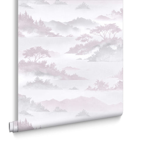 Atmosphere Wallpaper in Dusk from the Exclusives Collection by Graham & Brown