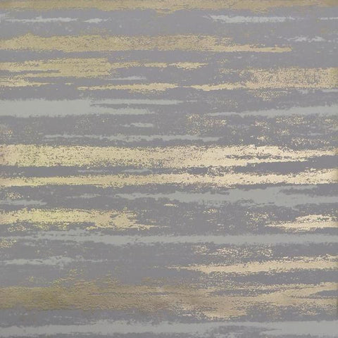 Sample Atmosphere Wallpaper in Grey and Gold by Antonina Vella for York Wallcoverings