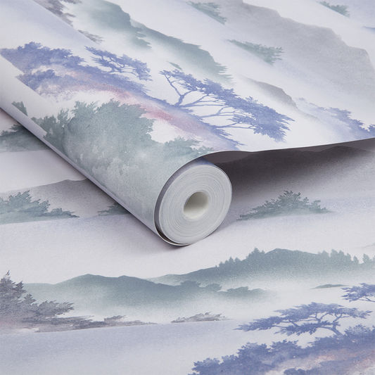 Sample Atmosphere Wallpaper in Heather from the Exclusives Collection by Graham & Brown