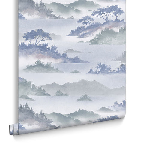 Atmosphere Wallpaper in Heather from the Exclusives Collection by Graham & Brown