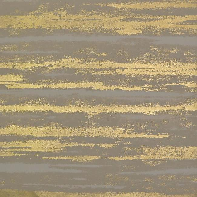 Atmosphere Wallpaper in Khaki and Gold by Antonina Vella for York Wallcoverings