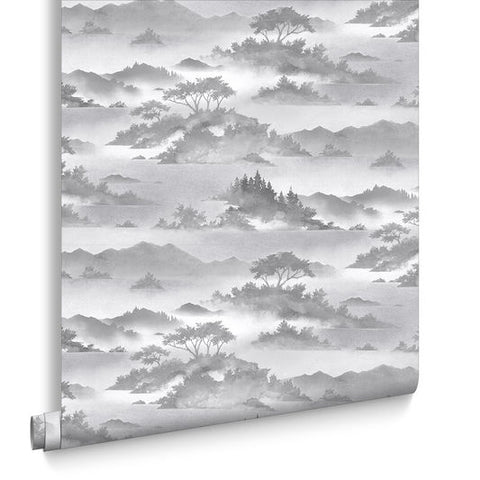 Atmosphere Wallpaper in Shadow from the Exclusives Collection by Graham & Brown