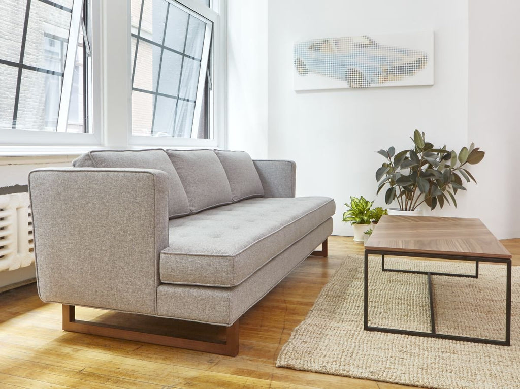 Aubrey Sofa in Parliament Stone design by Gus Modern