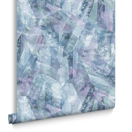 Sample Aura Aquamarine Wallpaper from the Exclusives Collection by Graham & Brown