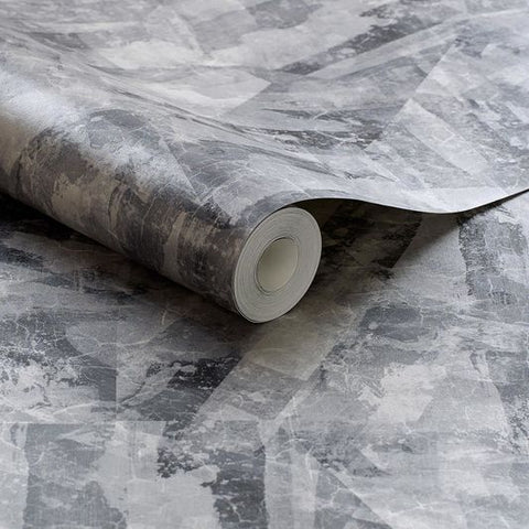 Aura Slate Wallpaper from the Exclusives Collection by Graham & Brown