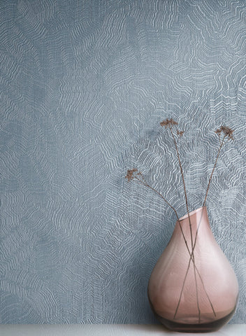 Aura Wallpaper in Blue from the Terrain Collection by Candice Olson for York Wallcoverings