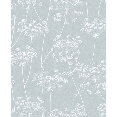 Aura Wallpaper in Blue from the Innocence Collection by Graham & Brown