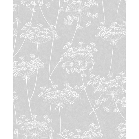 Aura Wallpaper in Grey from the Innocence Collection by Graham & Brown
