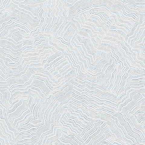 Sample Aura Wallpaper in White and Metallic from the Terrain Collection by Candice Olson for York Wallcoverings