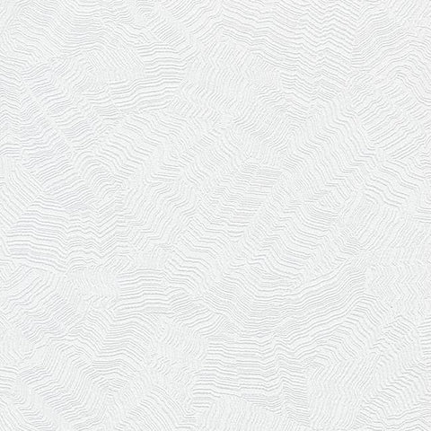 Sample Aura Wallpaper in White from the Terrain Collection by Candice Olson for York Wallcoverings