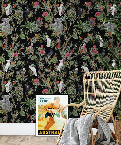 Australia Wallpaper in Night from the Kingdom Home Collection by Milton & King