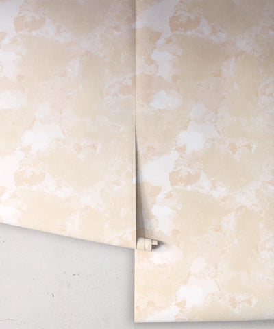Autumn Path Wallpaper in Natural from the Shibori Collection by Milton & King