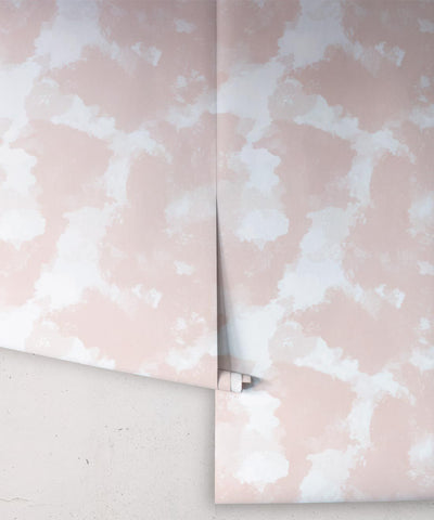 Autumn Path Wallpaper in Peach from the Shibori Collection by Milton & King