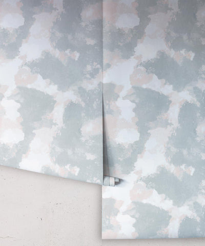 Autumn Path Wallpaper in Sage from the Shibori Collection by Milton & King