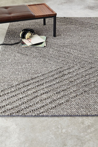 Avro Rug in Charcoal design by Gus Modern