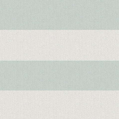 Awning Aqua Stripe Wallpaper from the Seaside Living Collection by Brewster Home Fashions
