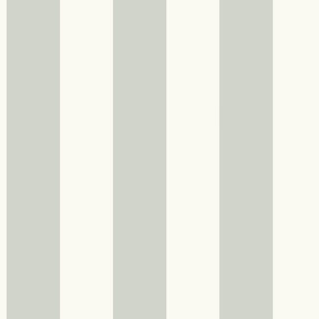 Awning Stripe Wallpaper In Grey And Ivory From The
