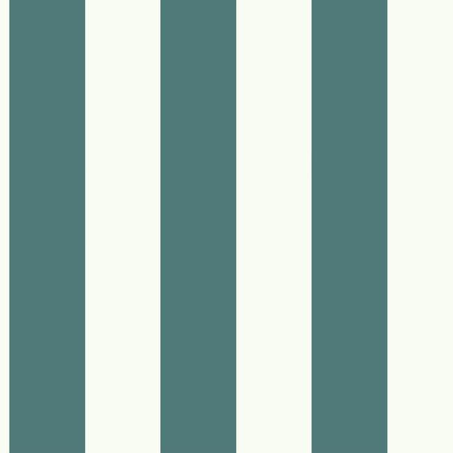 Awning Stripe Wallpaper In Marine Blue From The Magnolia