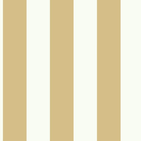 Awning Stripe Wallpaper in Ochre from the Magnolia Home Collection by Joanna Gaines