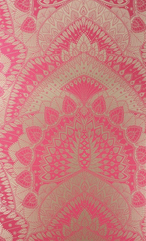 Azari Wallpaper in Pink and Gold by Matthew Williamson for Osborne & Little