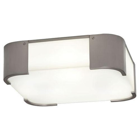 Bryce Flush Mount in Brushed Nickel design by Robert Abbey