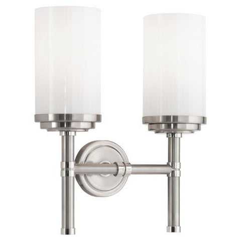 Double Halo Sconce in Nickel