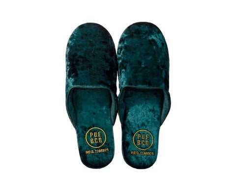 Velvet Slipper - Large - Green