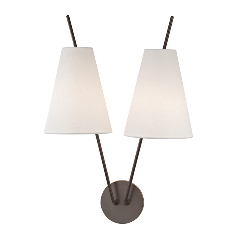 Milan 2 Light Wall Sconce by Hudson Valley Lighting