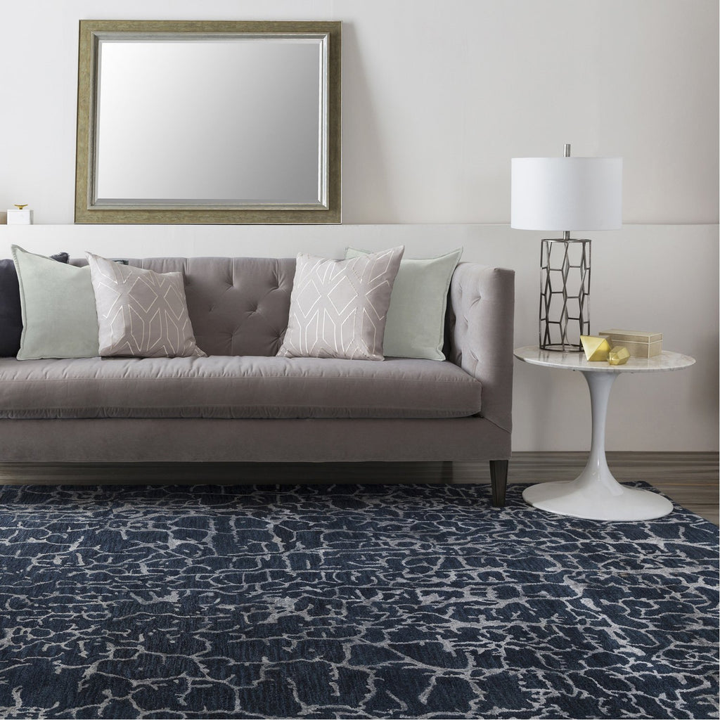 Banshee BAN-3306 Hand Tufted Rug in Navy & Denim by Surya