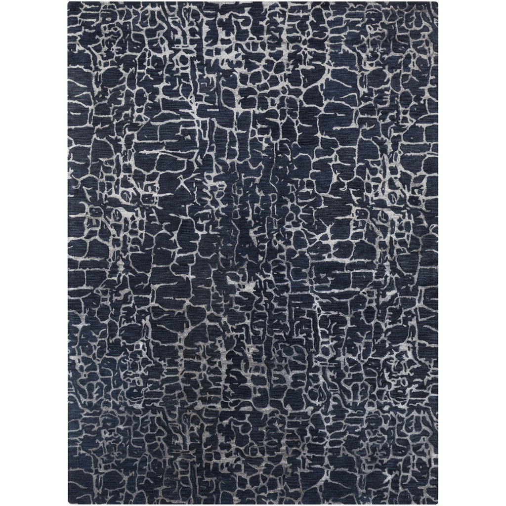 Banshee Collection New Zealand Wool Area Rug in Night Sky and Sapphire Blue
