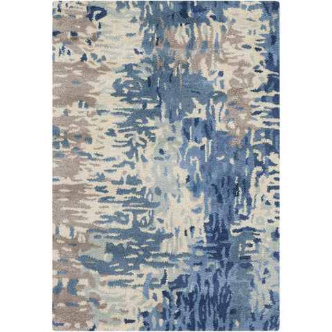 Banshee BAN-3342 Hand Tufted Rug in Dark Blue & Bright Blue by Surya