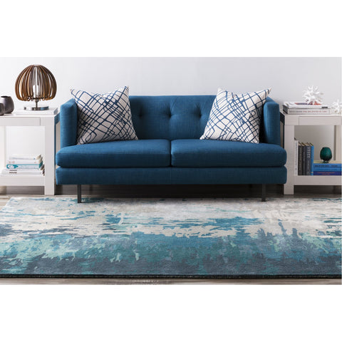 Banshee BAN-3343 Hand Tufted Rug in Teal & Sage by Surya