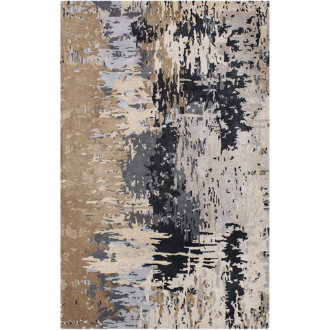 Banshee BAN-3399 Hand Tufted Rug in Taupe & Light Gray by Surya