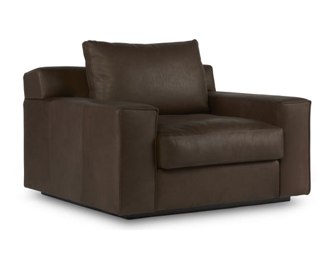 Barrett Leather Chair in Cocoa