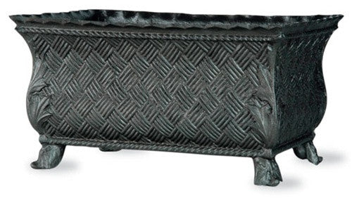 Basket Weave Trough in Faux Lead Finish design by Capital Garden Products