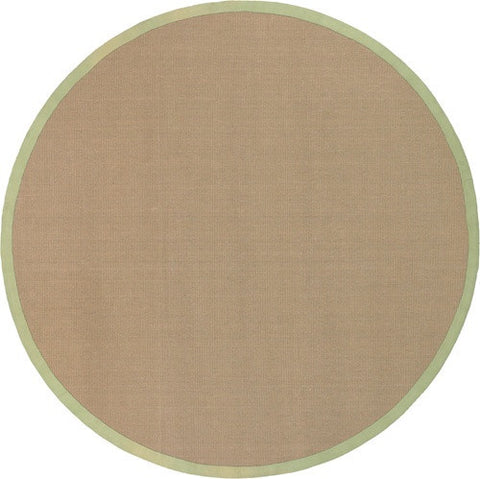 Bay Area Rug in Beige with Green Trim