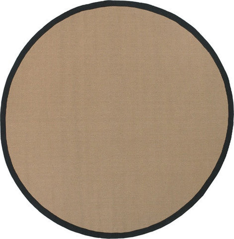 Bay Area Rug in Beige with Black Trim design by Chandra rugs