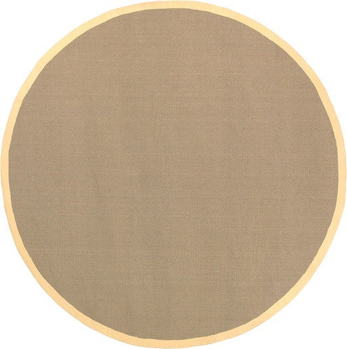 Bay Area Rug in Beige with Yellow Trim design by Chandra rugs