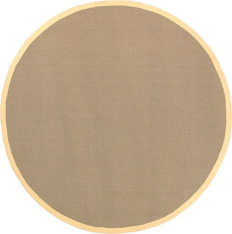 Bay Area Rug in Beige with Yellow Trim