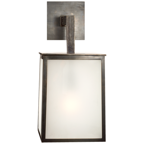 Ojai Large Sconce in Bronze with Frosted Glass by Barbara Barry