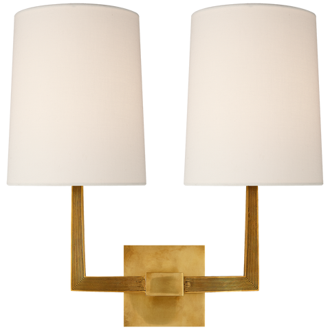 Ojai Large Double Sconce by Barbara Barry