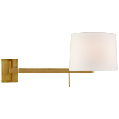Sweep Medium Left Articulating Sconce by Barbara Barry