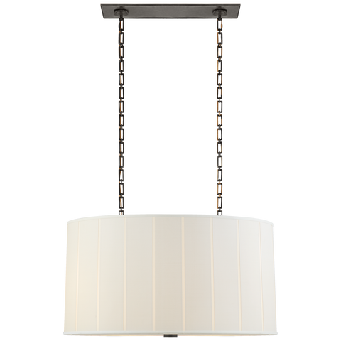 Perfect Pleat Oval Hanging Shade by Barbara Barry