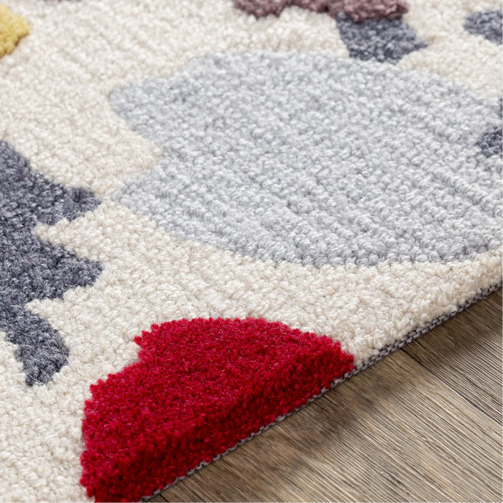 Botanical BCN-1001 Hand Tufted Rug in Mustard & Bright Pink by Surya