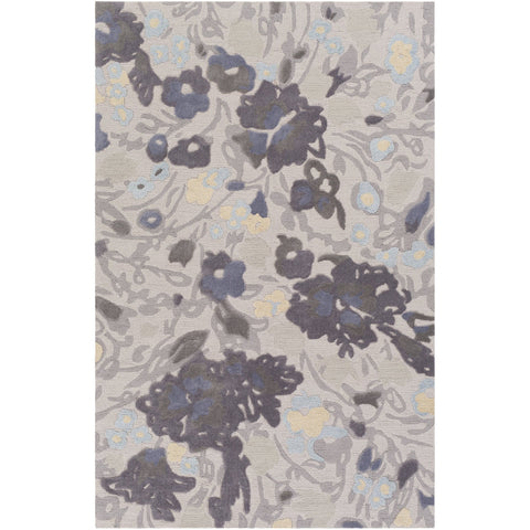 Botanical BCN-1002 Hand Tufted Rug in Charcoal & Medium Gray by Surya