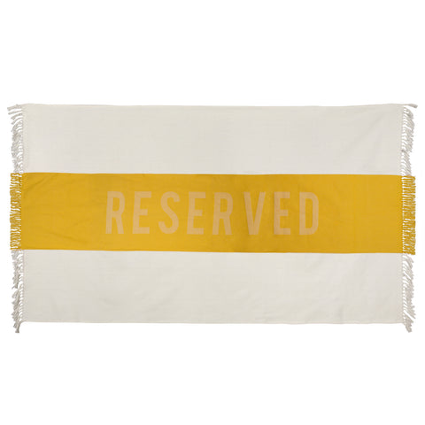 Reserved Beach Towel in Yellow design by Sir/Madam