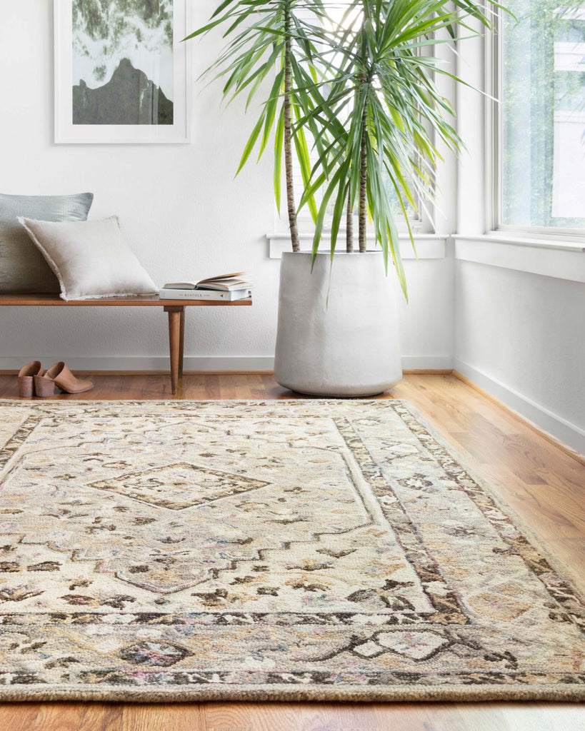 Beatty Rug in Grey & Ivory by Loloi II