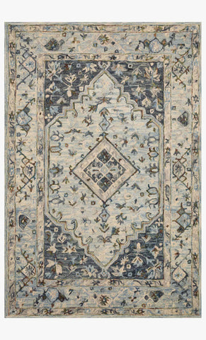 Beatty Rug in Light Blue & Blue by Loloi II