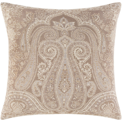 Boteh BEH-003 Woven Square Pillow in Camel & Cream by Surya