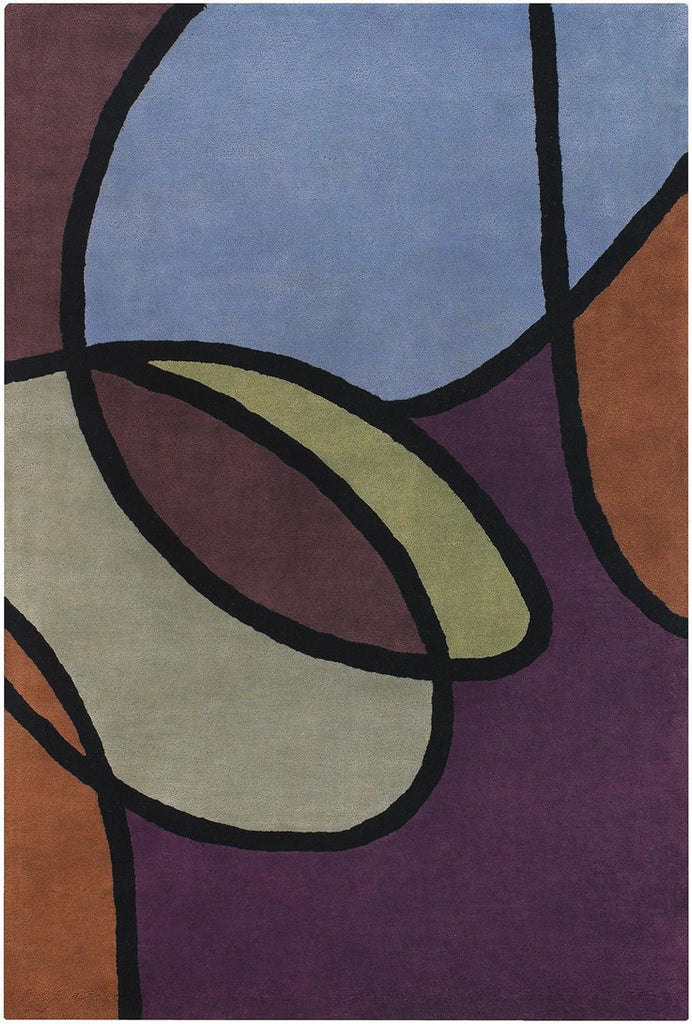 Bense Collection Hand-Tufted Area Rug, Swirl design by Chandra rugs
